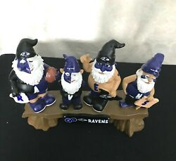 Nib Baltimore Ravens Go Team Gnome Bench Collectibles Nfl Discontinued