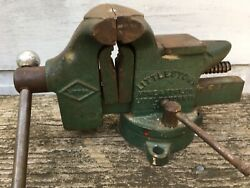 Vintage Littlestown No 25 Swivel Base Bench Vise 3-1/2 Jaws Made In Usa Littco