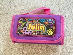 "Personalized Girls ""Julia"" lunchbox Purple pink foldable 9"" X 7"" Insulated $10.00"