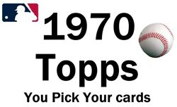 You Pick Your Cards 1970 Topps 299-720 Baseball Set Builder Card Selection A