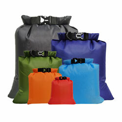 6 PCS Outdoor Waterproof Bag Dry Sack for Drifting Boating Floating A6B5