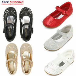 Kids Girls Toddlers Infant Mary Jane Shoe Flats Shoes Princess Dress Shoes Size $18.80