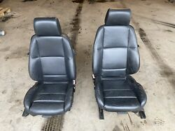 Bmw E36 M3 92-99 Black Leather Driver And Passenger Luxury Seat L And R 589e