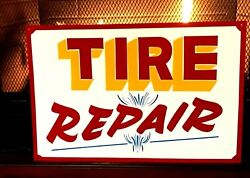 Painted Tire Repair Sign Gas Oil Service Station Truck Car Shop Firestone Kelly