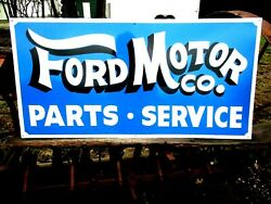 Special Order Hand Painted Antique Style Ford Motor Co And Mercury Parts Sign Lot