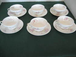 Set Of 6 Antique Limoges Cups And Saucers - Good Condition