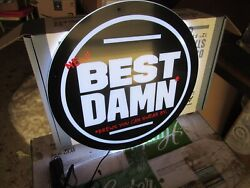 Best Damn Beer Sign From Anheuser Busch Brew New In The Box For Your Man Cave