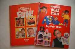 Lot Of 2 1990 Playskool Toy Fair And 1994 Ages And Stages Toy Fair Spiral Catalogs