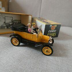 Corgi Classics 9012 Ford T Open Yellow Boxed With Packing And Leaflet