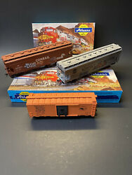 Vintage Lot Of 3 Athearn Professionally Built Ho Model Train Freight Cars W Box