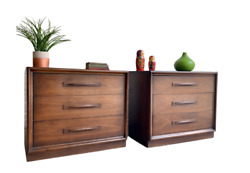 Mid Century Modern Dressers By Broyhill Emphasis, A Pair