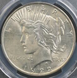 1922 Peace Dollar Pcgs Ms 64 Nice White Creamy Satin Luster Pleasing Appearance