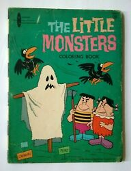The Little Monsters Vintage 1960and039s Coloring Book Very Rare Gold Key Comics