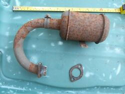 Exhaust Muffler Lt12 Lawn Boy Riding Mower Tractor Vintage Good Used Part 52138