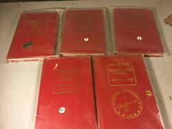 Lot Of 5 Different Red Book Coin Prices For Us Currency 1962-1965 And 1982