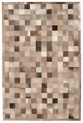 Handmade Cowhide Rug 4and0399 X 7and0394 Genuine Cow Skin Leather Carpet