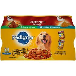Pedigree Choice Cuts In Gravy Adult Canned Wet Dog Food Variety Pack 24 Cans