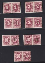 Us J22p5-j28p5 Postage Due Plate Proof Pairs On Stamp Paper Vf-xf Og H Scv 3125
