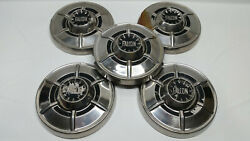 Ford Falcon Hubcaps Wheelcover Center Caps Vintage Set Of 5 Chrome