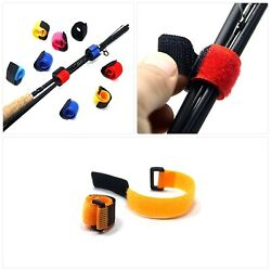 Samsfx Fishing Rod Belts Cable Tie Strap With Anti Buckle Fish Pole Holders Acce
