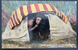 Mint Picture Postcard Native American Indian Sweat House Oregon Healing Purposes