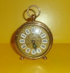 Vintage Beautifull Large German Antique Alarm Clock By Blessing Hand Made Used