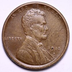 1915-s Lincoln Wheat Cent Penny Choice Xf+ Free Shipping E548 Jft
