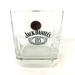Jack Daniels Whiskey Old No.7 Brand 1914 Gold Medal London Square Glass