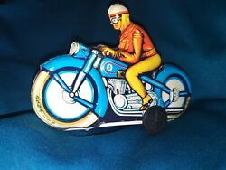 Vintage Tin Motorcycle Wind Up Toys