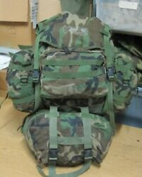 Complete Usgi Woodland Molle Ii Rucksack Pack With Sustainment Pouches