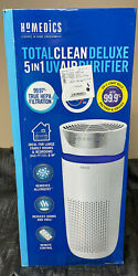 Homedics Totalclean Deluxe 5-in-1 Tower Air Purifier Uv-c Light Extra Large