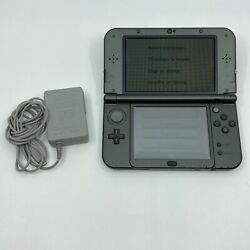 Nintendo New 3ds Xl 4gb Black Handheld System W/ Game Stylus And Charger Tested