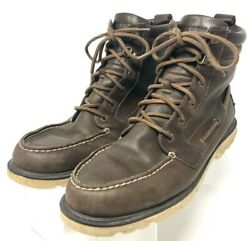 Sperry Top-sider Mens A/o Lug Ii Boots Brown Leather Sts14151 Lace Up 10.5 M