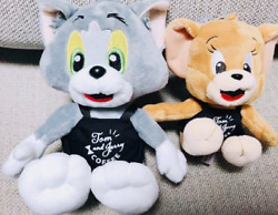 Tullyand039s Coffee Tom And Jerry Plush Toy Mascot Key Chain Set