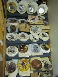 Lot Of 23 Collector Plates Knowles Norman Rockwell Plates With Coa