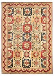 Vintage Hand-knotted Carpet 9'9 X 13'11 Traditional Oriental Wool Area Rug