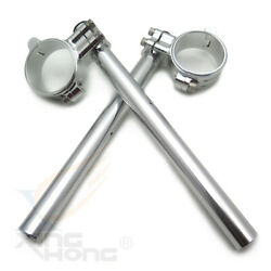 22mm Handle Bar And 55mm Clip Ons Silver For 14 - 19 Bmw R Nine T W/ Inverted Fork