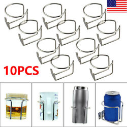 5pairs Stainless Steel Boat Ring Cup Drink Holder For Yacht Marine Camper Truck