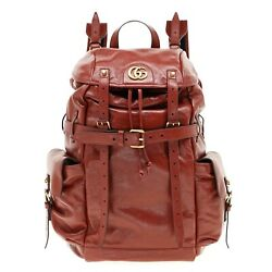 Rebelle Large Backpack Red Leather Limited Edition New