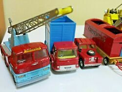 Vintage Corgi Major Lot Of 7 Items Chipperfields Circus Themed Toy Crane Wrecker