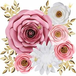 Paper Flowers Decorations for Wall Large 3D Artificial Fake Flower Wall Decor