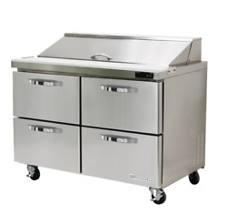 New 48 Refrigerated Sandwich Prep Table 4 Drawer Nsf Cooler Blue Air 5559