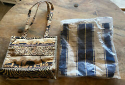 Lancome Striped Canvas Summer Tote amp; Animal Print Tote By JADE Totes For Beach $49.99