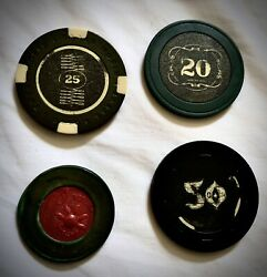 Vintage Casino Chips Lot Of 4
