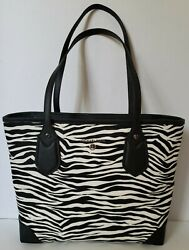 MICHAEL KORS AUTHENTIC LEATHER ZEBRA EVA SATCHEL TOTE PURSE NEW $99.95