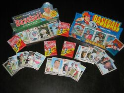 Lower Grade 1970 And 1972 Topps Lot Inc Display Boxes Wrappers Cards Stars Wow