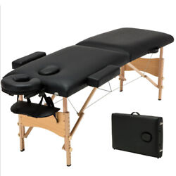 Portable Foldable Massage Table Bed Spa Salon Bed With Carry Case 2-fold 84and039and039