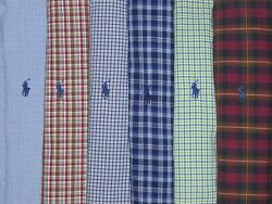 Lot Of 6 Mens 2xl Dress Casual Shirts Button Down Pony Plaid Lovers