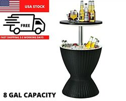8 Gallon Cool Bar Table Patio Set Outdoor Furniture Bistro Piece Dining Pool Bbq