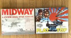Pacific War Tactical Board Game 2set Us-japan Aircraft Carrier Battle And Midway